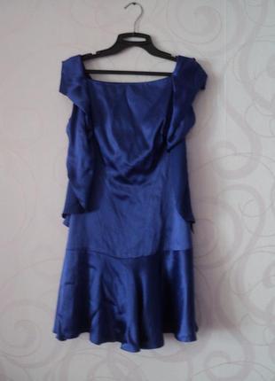 Синее коктейльное платье, мини-платье на выпускной, летнее кок...