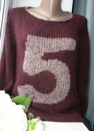 Grace стильный пуловер 68% альпака 10% мериносовая шерсть s-m ...