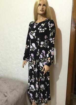 Платье миди в цветы new look размер 8/10