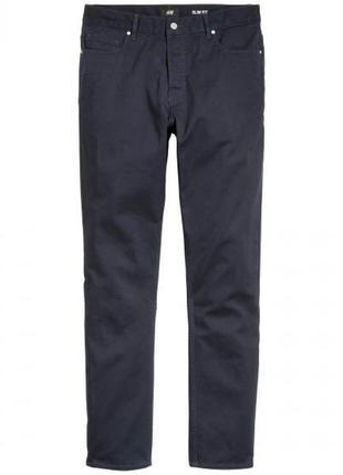 Твиловые брюки slim fit