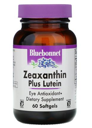 Bluebonnet Nutrition, Зеаксантин плюс лютеин, 60 мягких желати...