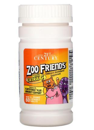 21st Century, Zoo Friends с добавлением витамина C, апельсин, ...