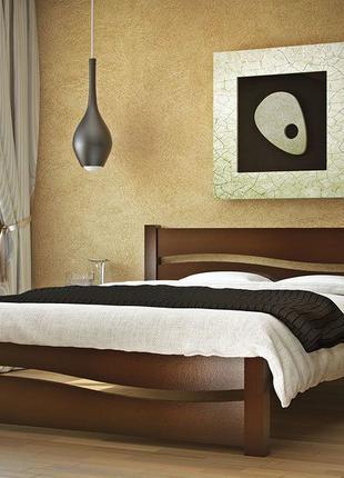 Кровать София 160х200 темный орех