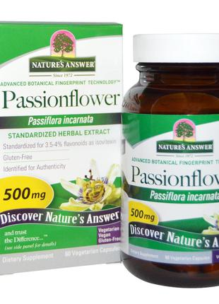 Nature's Answer, Passionflower, 500 mg, 60 Vegetarian Capsule ...