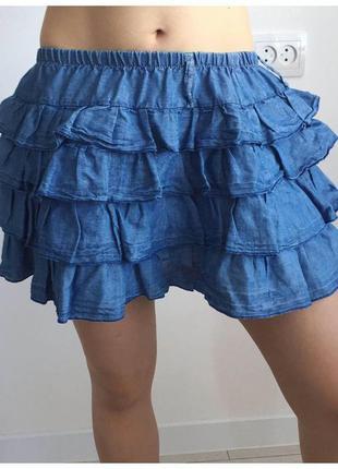 Юбка, спідниця, голубая юбка.