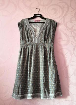 Свободное платье с принтом, пляжное платье, этно принт, платье...