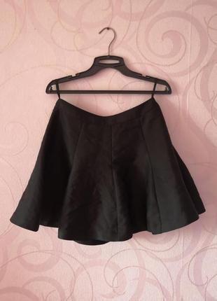 Черная юбка-шорты, мини-юбка с шортами, короткая юбка для танц...