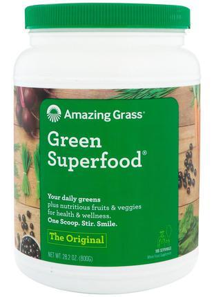 Amazing Grass, Green Superfood, оригинальный вкус, 800 г (28,2...