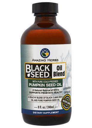 Amazing Herbs, Смесь масла черного тмина с чистым маслом тыквы...