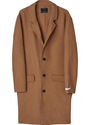 Мужское пальто bershka шерсть