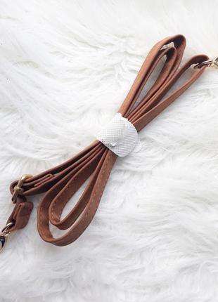 Коричневый ремень для сумки, длинная ручка на сумку, плечевой ...