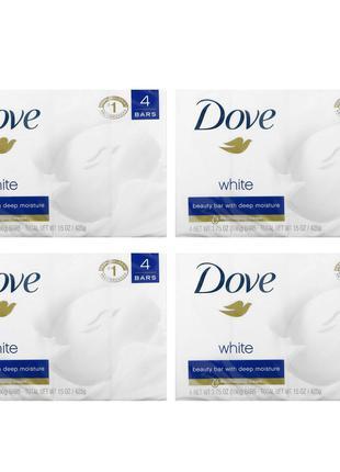Dove, White Beauty Bar, 4 Bars, 3.75 oz (106 g) Each