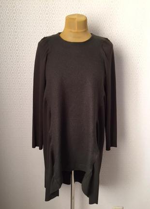 Оригинальное комбинированное платье / туника от cos, размер   l