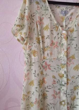 Прозрачное платье-халат с цветами, платье-макси, цветочный при...