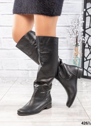 ❤ женские весенние деми кожаные высокие сапоги полусапожки бот...