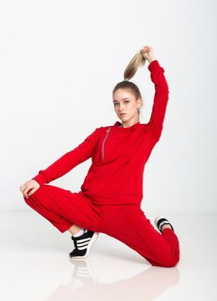 Женский спортивный костюм косуха красный