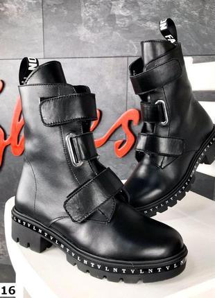 36-41. натуральная кожа. демисезонные кожаные ботинки с пряжками
