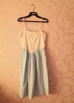 Платье на тонких бретелях, винтаж, ретро