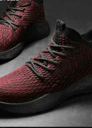 Тренд! мужские красные бордовые кроссовки кеды yzy