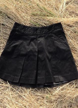 Черная юбка-трапеция на лето, юбка на 1 сентября, юбка в школу...