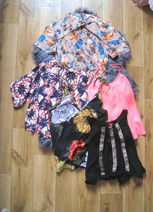 Лот комплект набор из 5 блуз, 5 топов по цене 1 размер s
