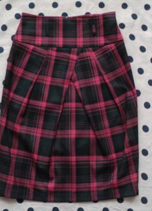 Классическая юбка в клетку, юбка-тюльпан с высокой талией, юбк...