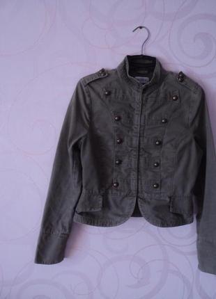 Джинсовая куртка, куртка из денима, гусарский пиджак, пиджак п...