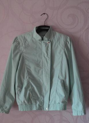 Мятная куртка, винтаж, легкая куртка, пиджак под джинсы, весен...