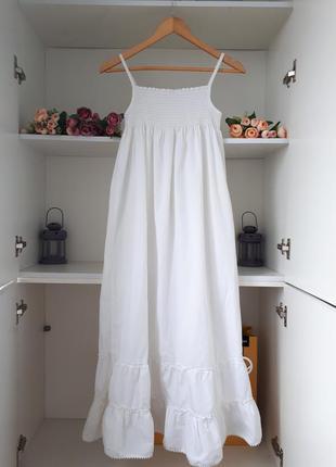 Белый сарафан летнее платье next