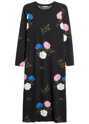 Платье миди в цветы h&m