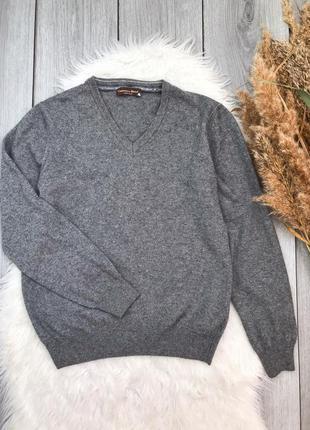🔥акция 3=5🔥cashmere blend свитер серый в составе шерсть мерино...
