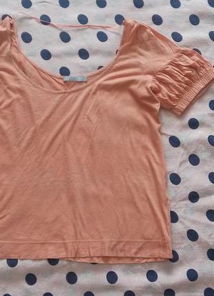Оранжевый топ на лето, летняя футболка, легкий топ на каждый д...