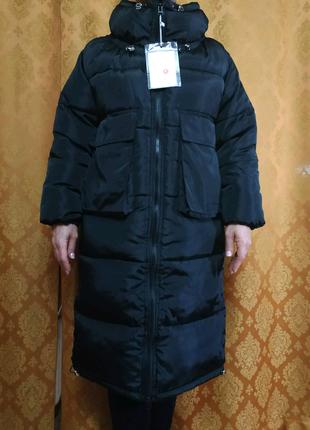 Куртка / пальто / пуховик женский черный
