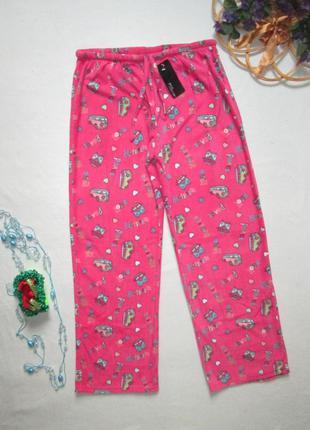 Классные флисовые тёплые домашние пижамные штаны в мультяшный ...