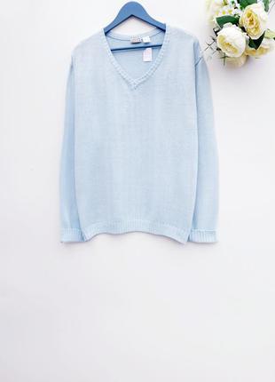 Нежно голубой свитер красивейший свитер большой размер батал