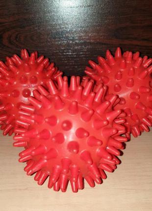 Мячик с шипами массажный резиновый