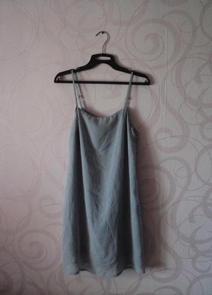 Серое платье в бельевом стиле, платье на новый год, летнее кок...