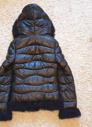 Куртка женская кожаная утепленная.