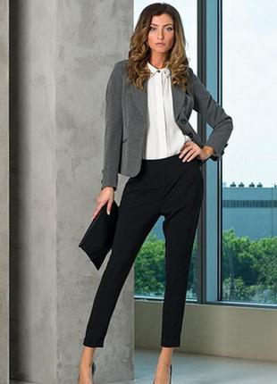 Брендовый серый пиджак жакет блейзер с карманами atmosphere ви...