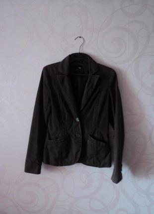 Коричневый жакет, пиджак под джинсы, жакет на 1 сентября, джин...