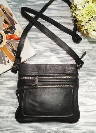 Tchibo. кожа. практичная сумка через плечо, кросс-боди