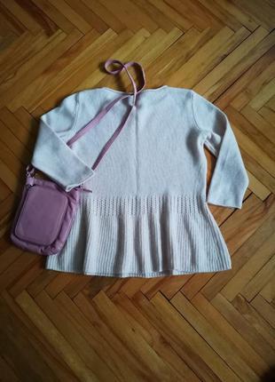 Теплая шерстяная кофта свитер comma