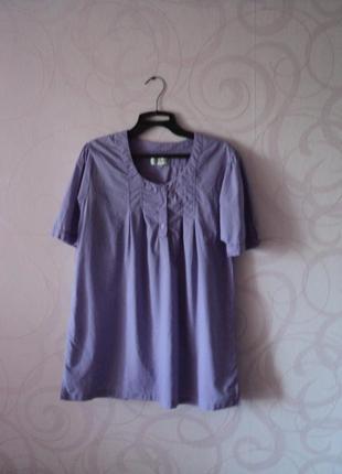 Фиолетовая туника на пляж, лавандовая футболка на лето, футбол...