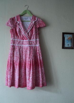 Платье в горошек, ретро стиль, коктейльное платье большого раз...
