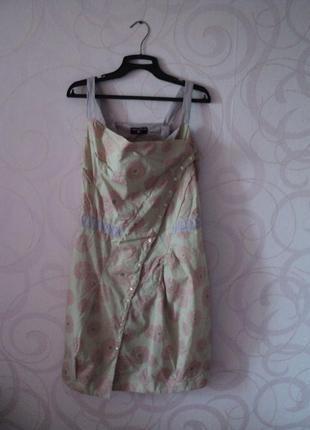 Платье с принтом одуванчик, платье с цветочным принтом, летнее...
