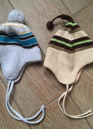 2 шапочки для малыша 0-6месяцев в идеале еврозима