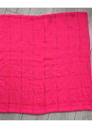 Шарф, хомут, ярко розовый шарф.