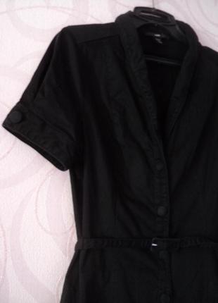 Черное платье-халат, платье в офис, платье на 1 сентября, плат...