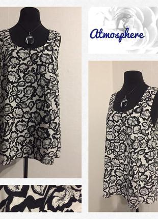 Красивая блуза без рукавов ( шифон)🌹 размер xl/xxl