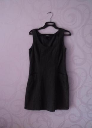 Серо-черное платье в офис, офисное платье, платье для офиса, п...